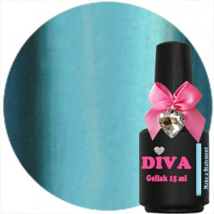 Diva Gellak Chrome Make a Statement 15 ml.