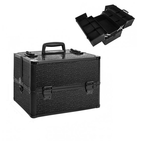 Super Nagelstyliste koffer Black Croco, zwart frame - diva-beauty YS-67